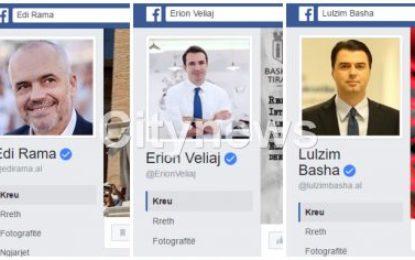 Propaganda, profile të rreme mbrojnë në rrjetet sociale Veliajn dhe Ramën
