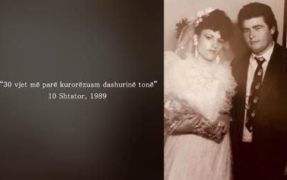 Ylli Ndroqi zbulon fotot, sot ka 30 vjetorin e martesës: Më 10 shtator 1989, kurorëzuam dashurinë tonë