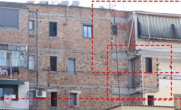 FOTO: Pallatet e arnuara me shtesa të Tiranës, përballë tërmetit