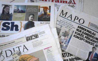 Lista nga shtypi shqip ditor / Gazetat me te mira shqiptare