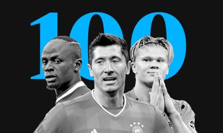 """100 futbollistët më të mirë të vitit sipas """"The Guardian"""""""